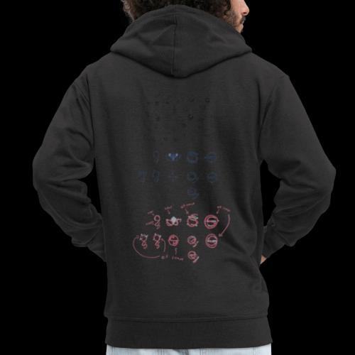 Overscoped concept logos - Men's Premium Hooded Jacket