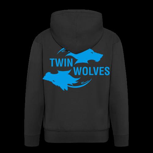Twin Wolves Studio - Felpa con zip Premium da uomo
