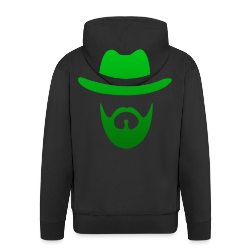 izicron logo vert - Veste à capuche Premium Homme