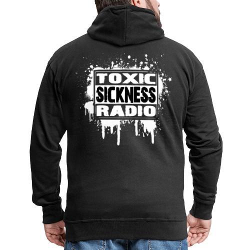 TOXIC SICKNESS RADIO LOGO - Men's Premium Hooded Jacket