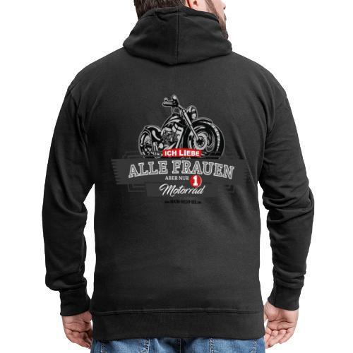 Ich liebe alle Frauen, aber nur 1 Motorrad - Männer Premium Kapuzenjacke