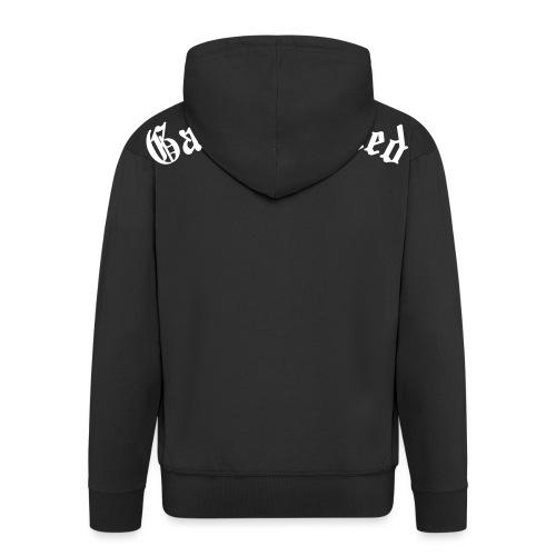 Game Related - valkoinen printti - Miesten premium vetoketjullinen huppari