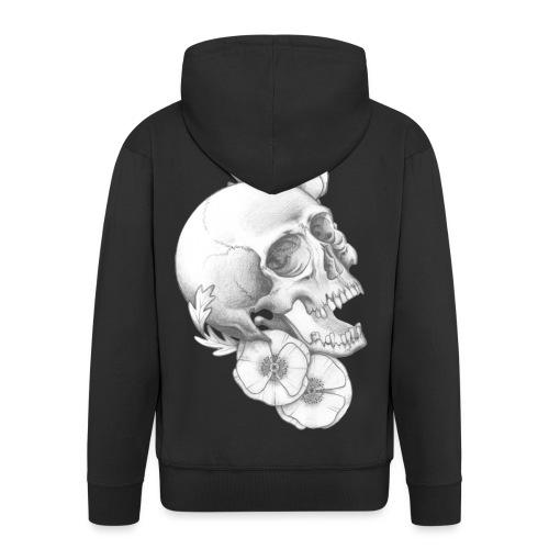 poppy skull - Männer Premium Kapuzenjacke