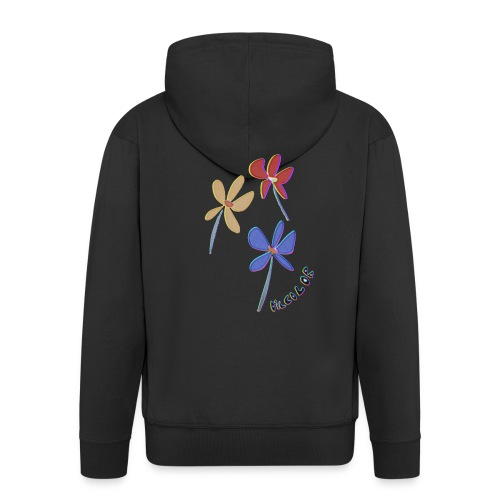 flowers - Men's Premium Hooded Jacket