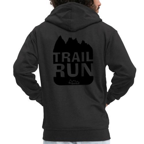Trail Run - Männer Premium Kapuzenjacke