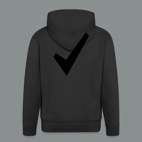 spunta nera - Felpa con zip Premium da uomo