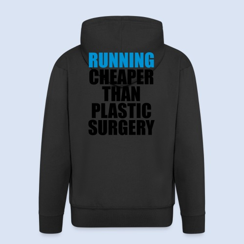 Running is cheaper than - Männer Premium Kapuzenjacke