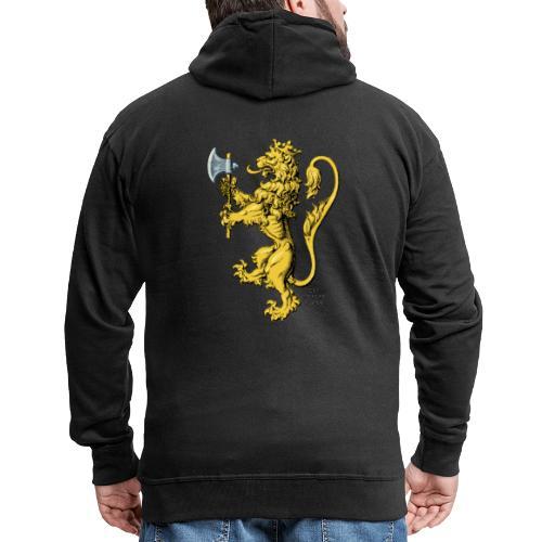 Den norske løve i gammel versjon - Premium Hettejakke for menn