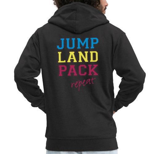 jump land pack repeat - Men's Premium Hooded Jacket