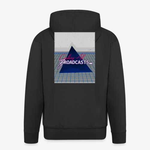 80s Distressed Design - Men's Premium Hooded Jacket