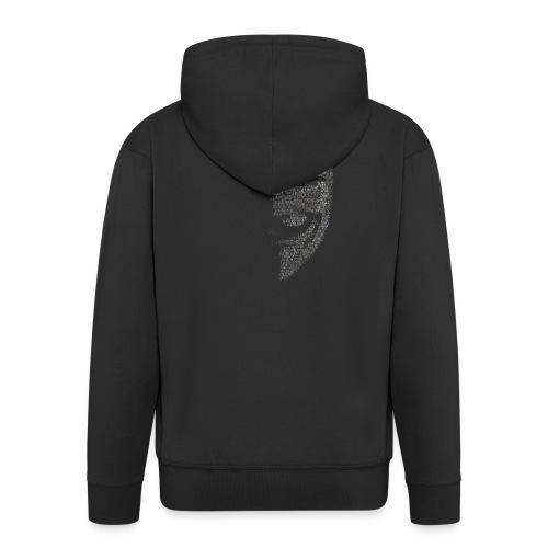 V de vendetta | Mascara Hackers - Chaqueta con capucha premium hombre