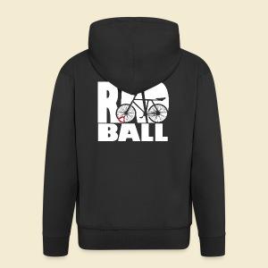 Radball | Typo - Männer Premium Kapuzenjacke