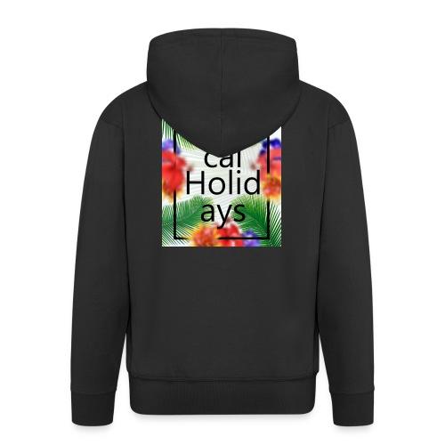 Tropical Holidays - Rozpinana bluza męska z kapturem Premium