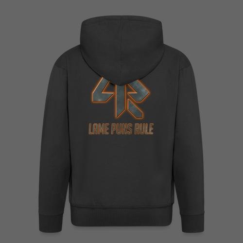 Lame Puns Rule: Logo - Men's Premium Hooded Jacket