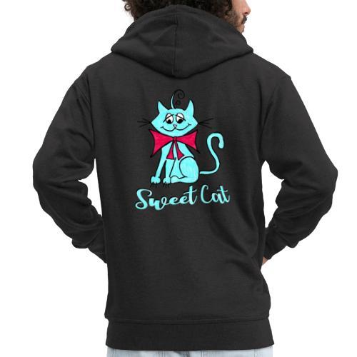 Niedliche kleine blaue Katze, Sweet! - Männer Premium Kapuzenjacke
