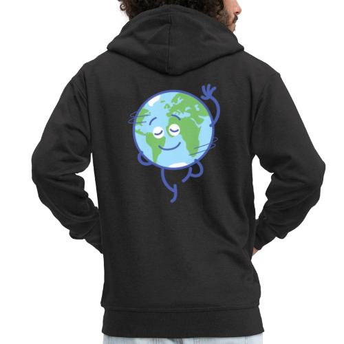 Nice planet Earth rotating graciously - Men's Premium Hooded Jacket