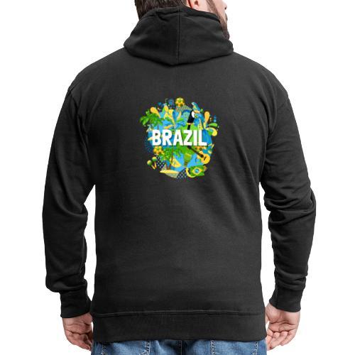 Encontro Brasil - Men's Premium Hooded Jacket