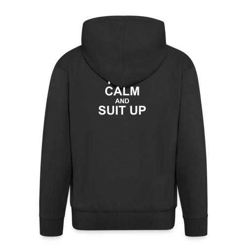Neon Suit Up - Men's Premium Hooded Jacket