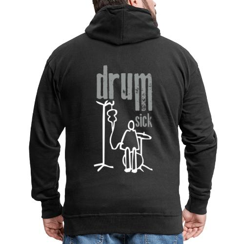 drums and text - Männer Premium Kapuzenjacke