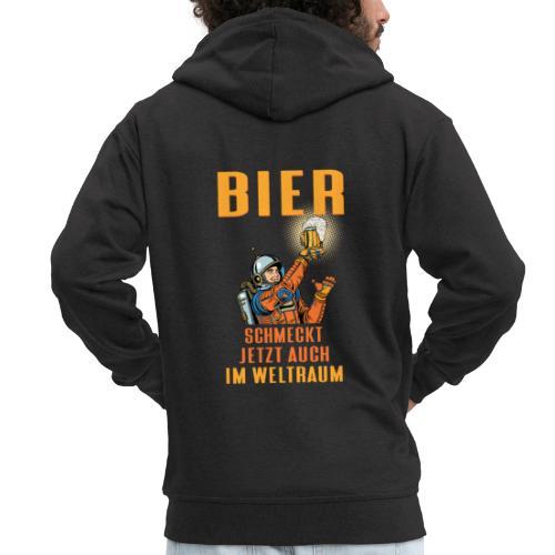 Bier schmeckt jetzt auch im Weltraum - Männer Premium Kapuzenjacke
