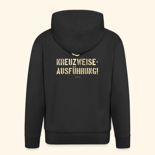 Lustiges Sprüche Design T Shirt Kreuzweise - Männer Premium Kapuzenjacke