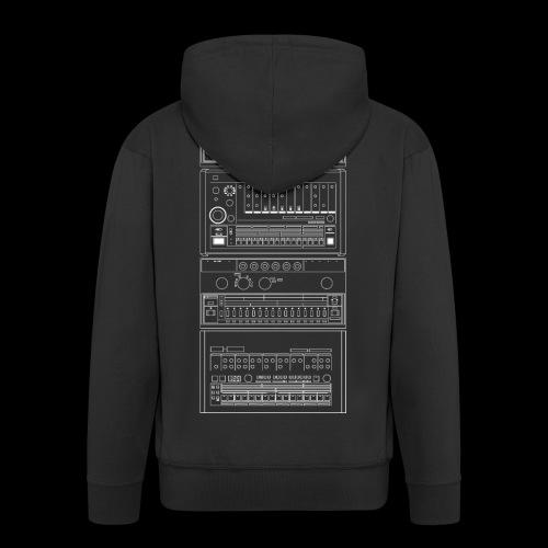 Synth Classix - Men's Premium Hooded Jacket