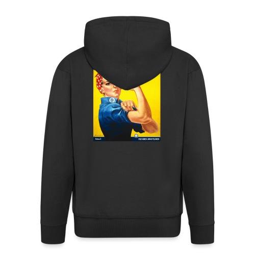 Kuntatyöntekijä - Naisten t-paita - Miesten premium vetoketjullinen huppari