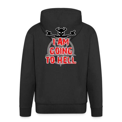 Going to hell - Slim fit - Men's Premium Hooded Jacket
