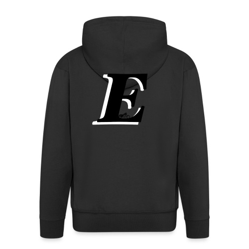 E alphabet - Men's Premium Hooded Jacket