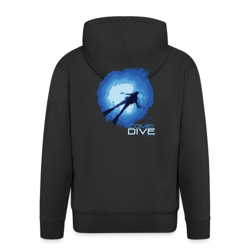Come and dive with me - Rozpinana bluza męska z kapturem Premium