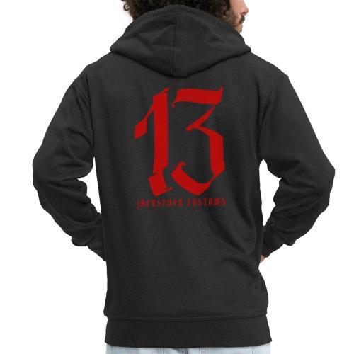 13 Jackseven Customs - Nummer 13 - Number 13 - Männer Premium Kapuzenjacke