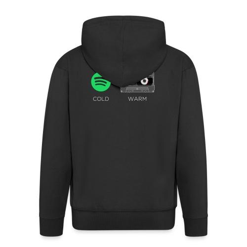 Spotify cold - warm cassette - Men's Premium Hooded Jacket