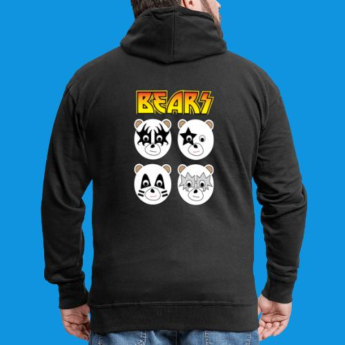 Kiss Bears square.png - Men's Premium Hooded Jacket