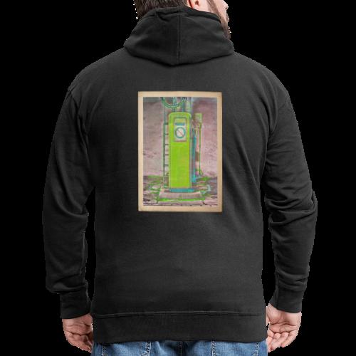 Vintage gas station - Men's Premium Hooded Jacket
