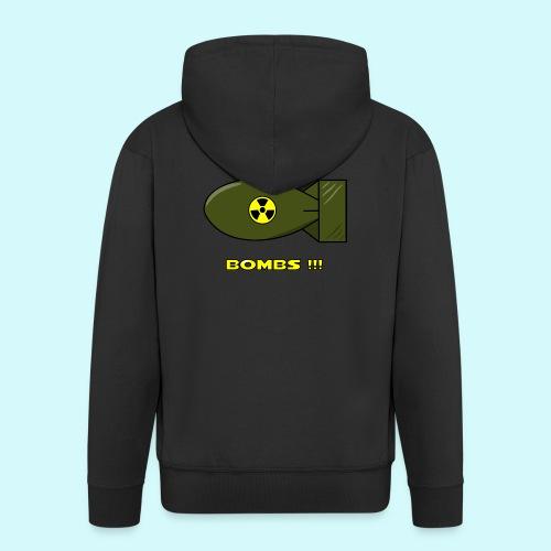 no more bombs - Stop Atom Bomben / Rackten - Männer Premium Kapuzenjacke