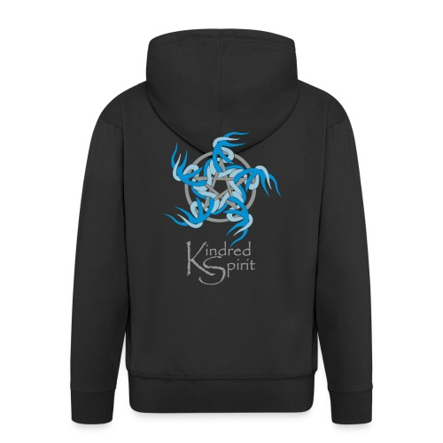 Kindred Spirit Symbol with Words - Men's Premium Hooded Jacket