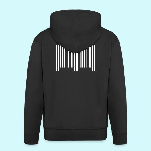 barcode - weiss - Männer Premium Kapuzenjacke