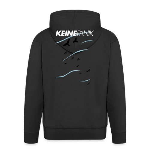 Shirt Vögel Blau Top - Männer Premium Kapuzenjacke
