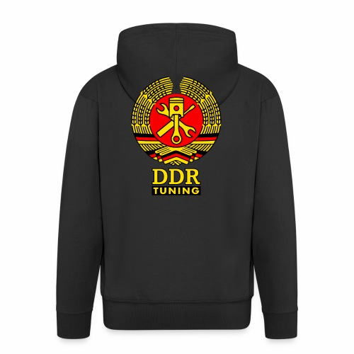 DDR Tuning Coat of Arms 3c - Men's Premium Hooded Jacket