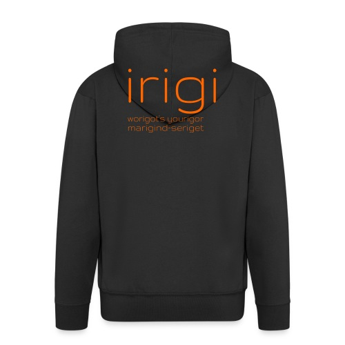 irigi-logo-007 - Men's Premium Hooded Jacket