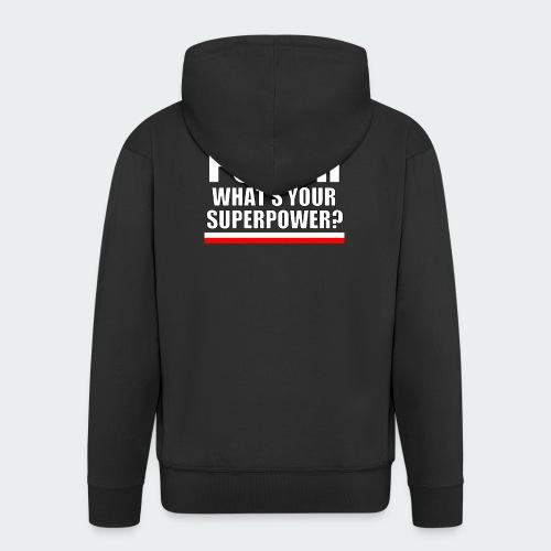 Damska Koszulka Premium I SPEAK POLISH - Rozpinana bluza męska z kapturem Premium