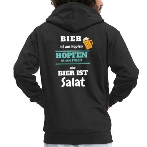 Bier ist aus Hopfen - Bier ist Salat - Männer Premium Kapuzenjacke