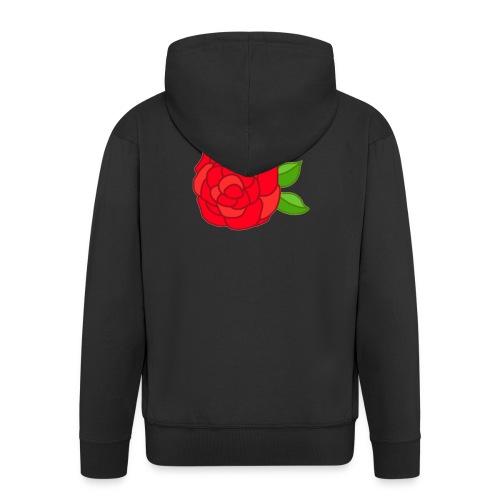 Róża - Rozpinana bluza męska z kapturem Premium