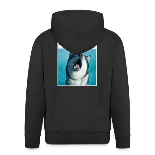 paws Alaskan Malamute - Men's Premium Hooded Jacket