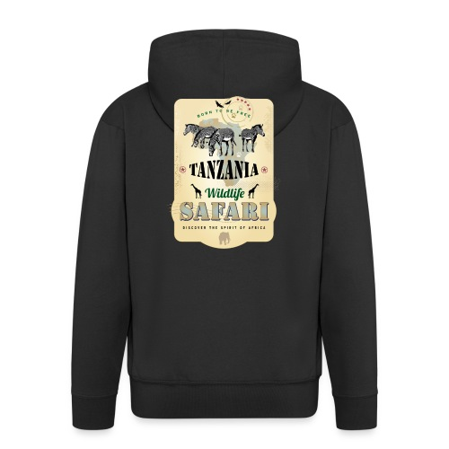 Zebras Wildlife Safari Tanzania Afrika Abenteuer - Men's Premium Hooded Jacket