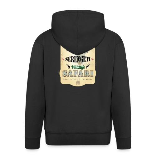 Zebras Wildlife Safari Serengeti Afrika Abenteuer - Men's Premium Hooded Jacket