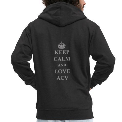 Keep Calm and Love ACV - Schriftzug - Männer Premium Kapuzenjacke