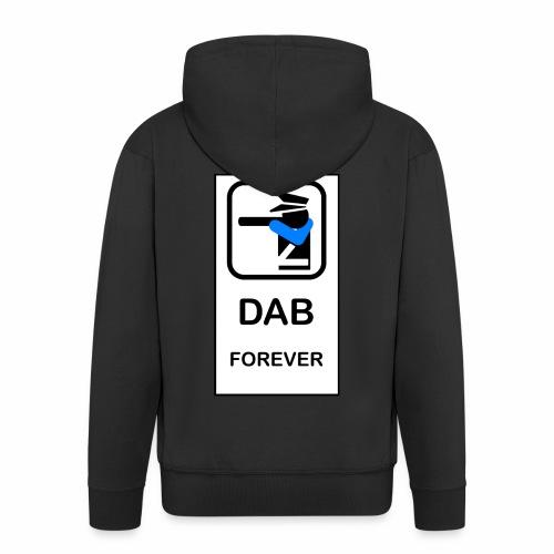 DAB POLICE - Felpa con zip Premium da uomo