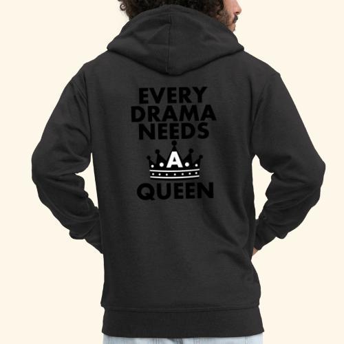 EVERY DRAMA black png - Men's Premium Hooded Jacket
