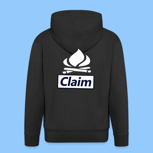 Claim Logo - Männer Premium Kapuzenjacke